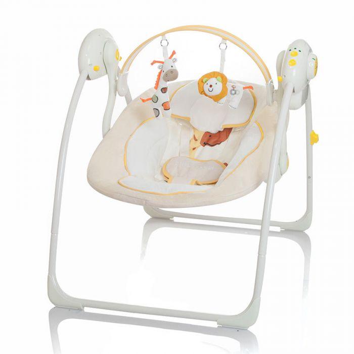 Automatische Schommel Baby.Baby Swing Little World Dreamday Cream Traphekstunter